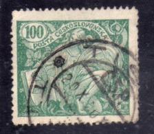 CZECHOSLOVAKIA CESKOSLOVENSKO CECOSLOVACCHIA 1920 AGRICULTURE AND SCIENCE AGRICOLTURA E SCIENZA 100h USED USATO OBLITER - Usati