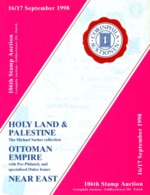 106. Corinphila Auktion 1998 - HOLY LAND + PALESTINE - OTTOMAN EMPIRE - Auktionskataloge