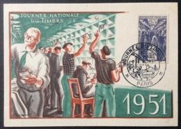 CM399 Paris Carte Maximum 879 Journée Du Timbre 10/3/1951 - Maximum Cards
