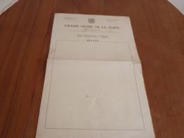 """Menu Vierge  ( 50 X 30 Cm ) à L'intérieur Carte Des Vins """" Grand Hotel De La Poste """" à Montargis - Menükarten"""