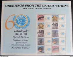UNO NEW YORK 2005 Mi-Nr: 977/81 S6 Kleinbogen Grussmarken ** MNH - New-York - Siège De L'ONU