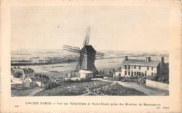 Montmartre Moulin à Vent Vue Sur Saint Ouen Et St Denis Ancien Paris ND 374 - Arrondissement: 18