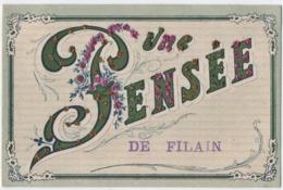 FILAIN (70) UNE PENSEE De FILAIN. CARTE Avec PETITES PERLES BRILLANTES. - Altri Comuni