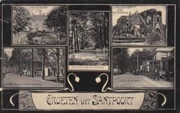 256616Groeten Uit Santpoort.(linkerkant Drie Kleine Scheurtjes, Zie Achterkant) - Otros