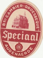 ETIKET SPECIAAL AUDENAERDE CAMBIER DROESBEQUE BRUIN - Beer