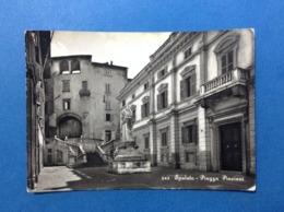 CARTOLINA FORMATO GRANDE VIAGGIATA PERUGIA SPOLETO PIAZZA PINCIANI MONUMENTO - Perugia