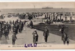 DEPT 62 : édit. L L N° 106 : Boulogne Sur Mer La Plage Vers La Digue ( Pas Courante A Saisir ) - Boulogne Sur Mer