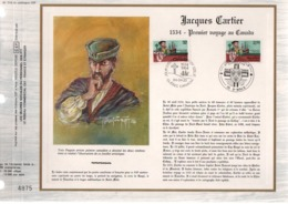 DOCUMENT FDC 1984 EMISSION CONJOINTE FRANCE-CANADA  JACQUES CARTIER - FDC