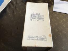 Boîte Champs-Élysées Paris G LALO Les Papiers G L LALO En L état  Gommage Garanti Pur Gomme Arabique - Scatole
