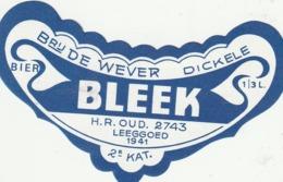 ETIKET DE WEVER DICKELE - Beer