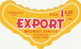 ETIKET DE WEVER DIKKELE - Beer