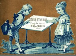 CHROMO  MAISON CUVINOT-NOREST LIANCOURT  LA TABLE A DESSIN - Trade Cards