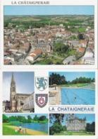 LA CHATAIGNERAIE. 2 CP Vue Générale Aérienne - Multivues - La Chataigneraie