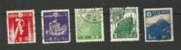 Japon N°261, 262, 264, 325A, 355 Cote 3.65 Euros - 1926-89 Emperor Hirohito (Showa Era)