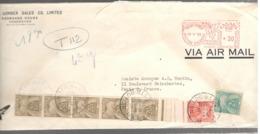 22872 - De VANCOUVER Pour La France Avec 7 Timbres Taxe - 1937-1952 Règne De George VI