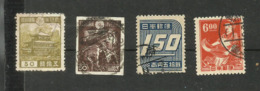 Japon N°275, 363, 370, 396 Cote 3.60 Euros - 1926-89 Emperor Hirohito (Showa Era)