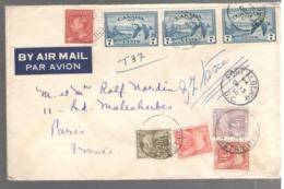 22873 - De PORT ALBERNI Pour La France Avec  4 Timbres Taxe - 1937-1952 Règne De George VI