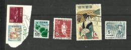Japon N°363, 380D, 396, 399, 400 Cote 3.45 Euros - 1926-89 Emperor Hirohito (Showa Era)