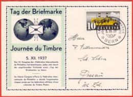 Schweiz Suisse 1937: PREMIER Journée Du Timbre Zu 210 Mi 311 Yv 302 Mit O BERN 5.XII.37 TAG DER BRIEFMARKE (Zu CHF 60.00 - Tag Der Briefmarke