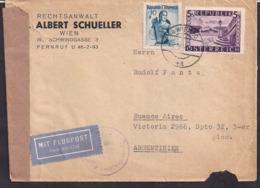 Österreich - 1949 - Brief - Nach Argentinien Geschickt Mit Alliierter Zensur - 1945-.... 2. Republik