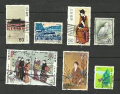 Japon N°1319, 1322, 1349, 1380, 1409, 1410, 1445, 1454 Cote 3.60 Euros - 1926-89 Imperatore Hirohito (Periodo Showa)