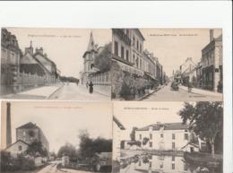 4 CPA:ROMILLY SUR SEINE (10) ATTELAGES AU MOULIN,VOITURE RUE DE LA BOULE D'OR,MOULIN DE SELLIÈRES,RUE DU CALVAIRE - Romilly-sur-Seine