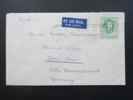 Australien / BRD 1964 Social Philately Brief An Den Bundespräsidenten Heinrich Lübke Villa Hammerschmidt Bonn - 1952-65 Elizabeth II : Pre-Decimals
