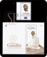 Portugal 2019 150 Anos Mahatma Gandhi Stamp Handmade Natural Fiber Famous People Personnages De L'histoire - Mahatma Gandhi
