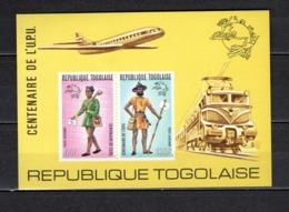 TOGO N° BLOC 77 NON DENTELE  NEUF SANS CHARNIERE COTE  ? €  UPU FACTEUR  VOIR DESCRIPTION - Togo (1960-...)
