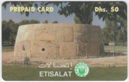U.A.E. A-546 Prepaid Etisalat - Tradtional Building - Used - Ver. Arab. Emirate