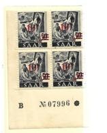 Dsp335A / SAAR - Mi.Nr. . 235 (1947) 4-ER Einheit Mit Druckdatum **   MNH - Unused Stamps
