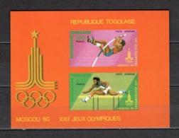 TOGO BLOC N° 137 NON DENTELE  NEUF SANS CHARNIERE COTE  ? €   JEUX OLYMPIQUES MOSCOU - Togo (1960-...)