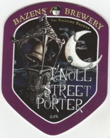 BAZENS BREWERY (SALFORD, ENGLAND) - KNOLL STREET PORTER - PUMP CLIP FRONT - Signs