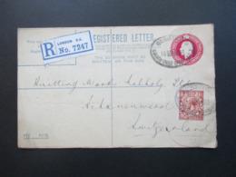GB 1923 Registered Letter / GA Mit Zusatzfrankatur Mit Firmenlochun / Perfin London Chief Office - Schönewerd Schweiz - 1902-1951 (Könige)