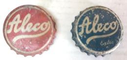 Brazil Bottle Caps Beer, Chapa De Botella De Ceveza - ALECO ( Red And Blue) - Capsules