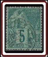 Colonies Générales - N° 49 (YT) N° 49 (AM) Oblitéré De Mayotte Et Dep. - Alphée Dubois