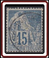 Colonies Générales - N° 51 (YT) N° 51 (AM) Oblitéré De Gros-Morne / Martinique. - Alphée Dubois