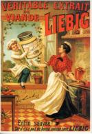 Lot De 2 Cartes Modernes (années 90). Reproduction Affiche Liebig Et Maggi - Pubblicitari