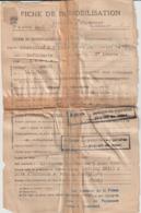 Gard Nîmes 1945 Fiche De Démobilisation Rapatrié D'Allemagne Du Stalag XVIII C - Historical Documents
