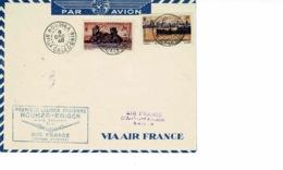 AVIATION AEROPOSTALE. 1ER VOYAGE AERIENNE NOUMEA-SAIGON PAR AF DEC1948, TIMBRE NOUV CALEDONIE DEPENDANCES - Neukaledonien