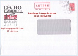 Entier FRANCE - PAP Enveloppe HORS COMMERCE Repiquage Echo Timbrologie Atout Timbres Oblitéré - TVP Luquet La Poste - Entiers Postaux
