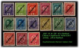 Österreich - Mi. Nr. 228 - 42 In Postfrisch + Ungebraucht - 1850-1918 Imperium