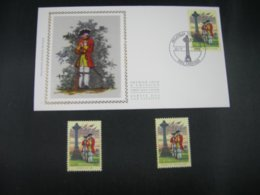 """BELG.1995 2600 FDC Soie/zijde (Tervuren) & Stamps From Ireland & Bel: """" De Slag Bij Fontenoy / La Bataille De Fontenay """" - FDC"""