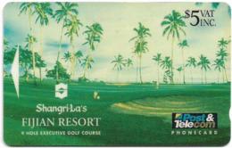 Fiji - Shangri La's Fijian Resort - 9 Hole Executive Golf Course, 5$, 05FJC - 1993, 20.000ex, Used - Fiji