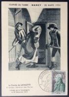 CM410 Nancy Carte Maximum 969 Journée Du Timbre 20/3/1954 - Cartes-Maximum