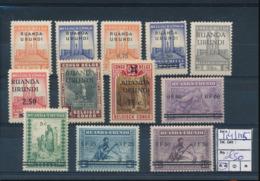 RUANDA URUNDI COB 114/125 MNH - 1924-44: Nuovi