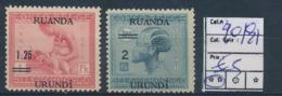 RUANDA URUNDI COB 90/91 MNH - 1924-44: Nuovi