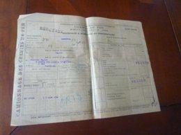 RECEPISSE CAMIONNAGE A DOMICILE DES MARCHANDISES ARRIVEES PAR CHEMIN DE FER 20JUIN 1907 DEPART BORDEAUX   ASNIERES - Railway