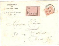 Recommandé Moulins Les Metz 1919 Semeuse Camée Merson - Marcofilie (Brieven)