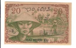 French Indo-China Pick#86d 20 Cents 20 Xu 1939  RARE  AU-UNC Lotto.2915 - Indochina